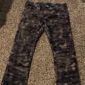 grayscale camo true religion jeans size 32